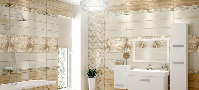 Как с помощью плитки увеличить пространство в ванной