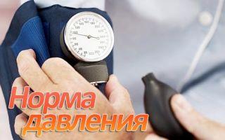 Норма артериального давления по возрасту человека