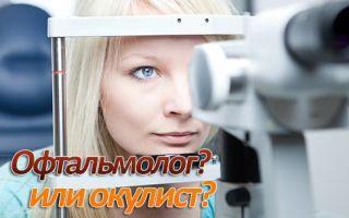 Кто такой офтальмолог и в чем его отличие от окулиста?