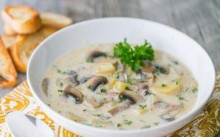 Грибной суп из шампиньонов со сливками: пошаговый рецепт с фото
