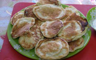 Фото рецепт оладий на кефире