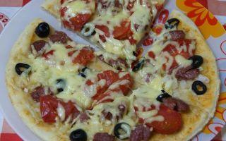 Рецепт пиццы из теста на кефире