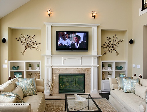 Дизайн гостиных с камином. Фото