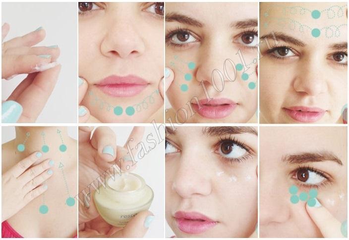 Секрет нанесения крема на лицо