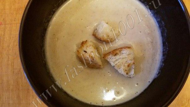 Крем-суп из шампиньонов с сыром