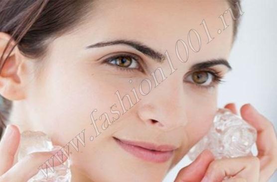 Как протирать лицо льдом