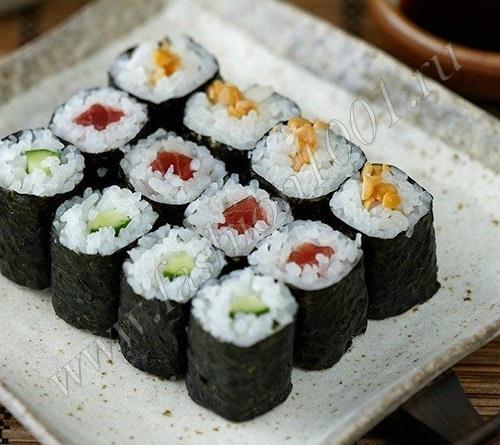 Как делают суши рецепт 19