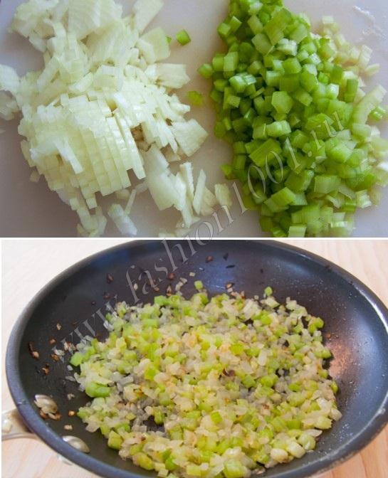 Нарезаем и смешиваем овощи