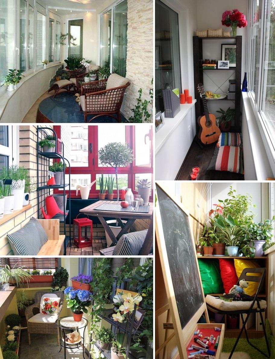 Фото: яркий дизайн балкона