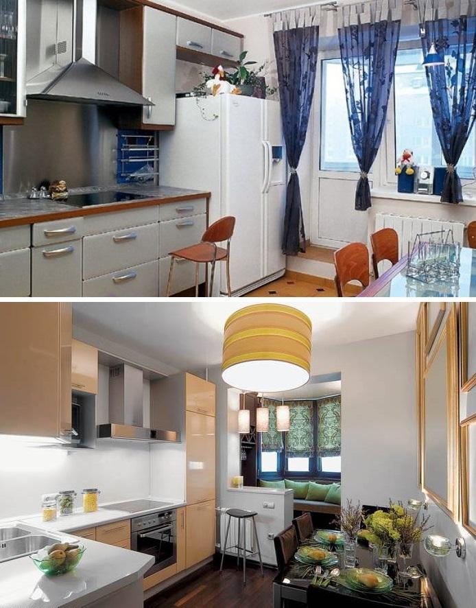Удачное сочетание кухни и зоны отдыха