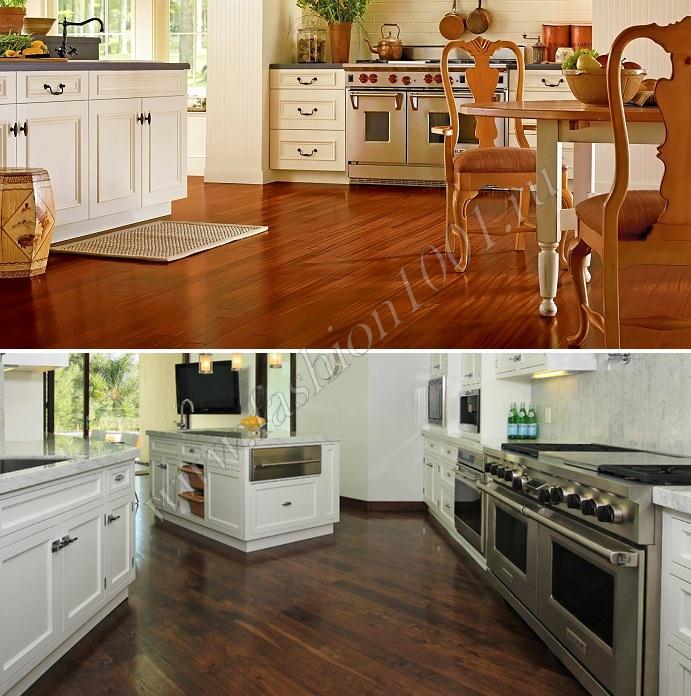 Кухонный пол из ламината