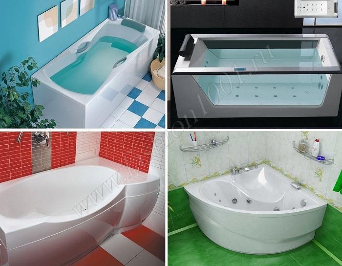Дизайн акриловых ванн