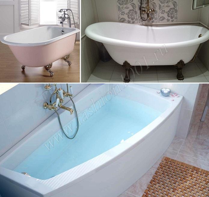 Дизайн чугунных ванн