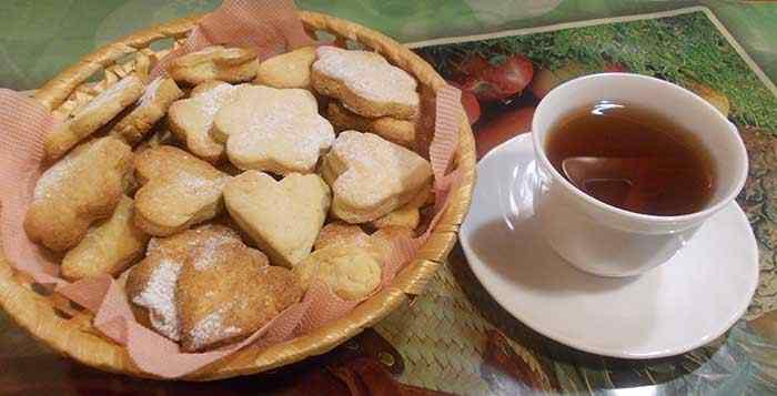 Песочное печенья к чаю
