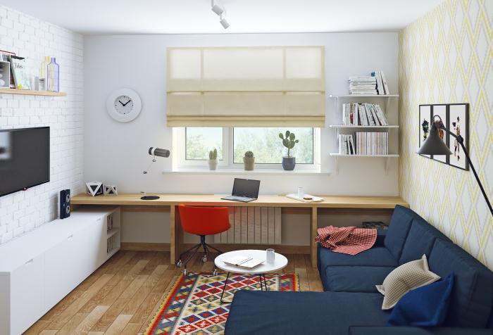 Скандинавский интерьер маленькой квартиры