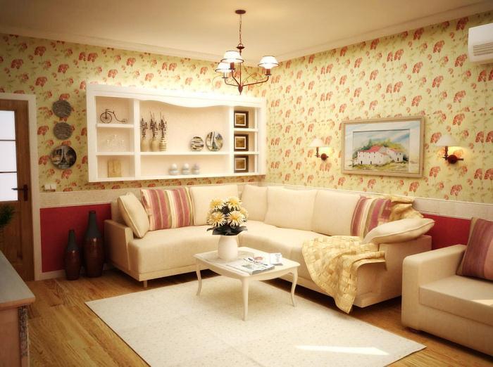 Стиль прованс в интерьере маленькой комнаты