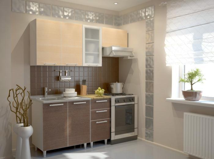 Кухонный гарнитур маленькой квартиры