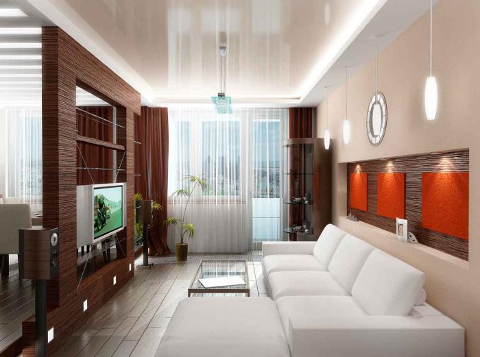 Дизайн зала маленькой квартиры