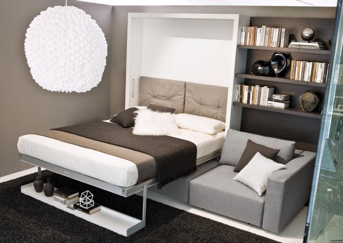 Разборная кровать для маленькой квартиры