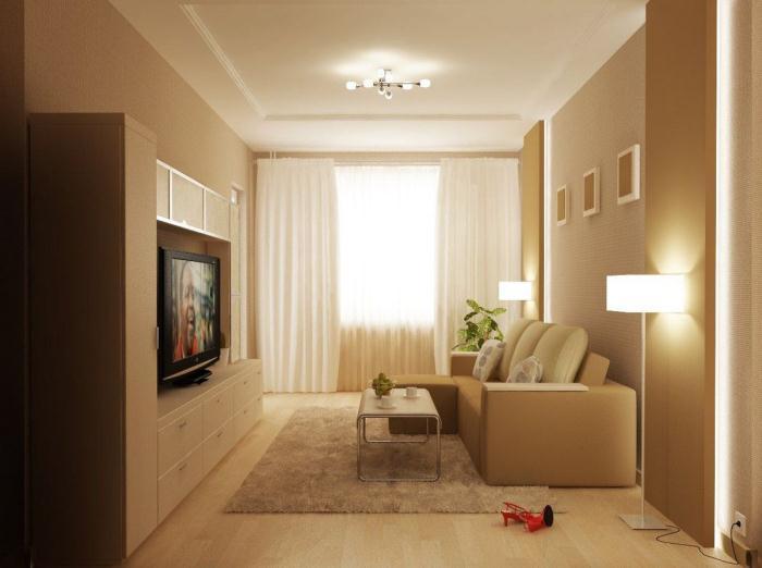 Маленькая комната в стиле контемпорари