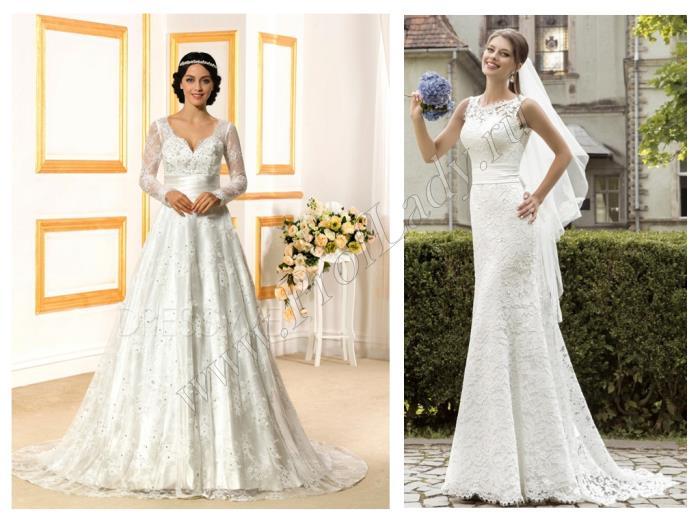 Фото свадебных кружевных платьев
