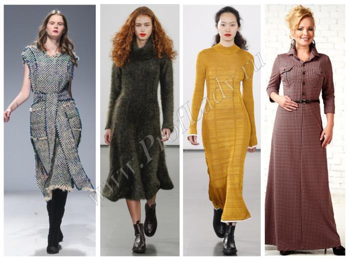 Платья на каждый день для осени и зимы
