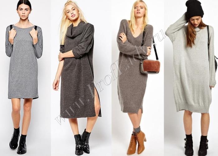 Трикотажные платья на каждый день для осени и зимы