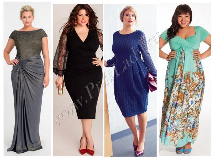Фото платьев для женщин больших размеров