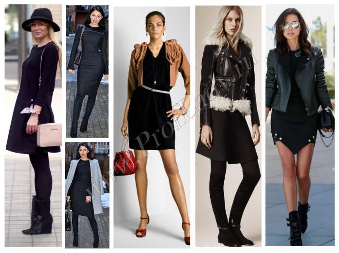 Фото модных идей 2016 для маленького черного платья