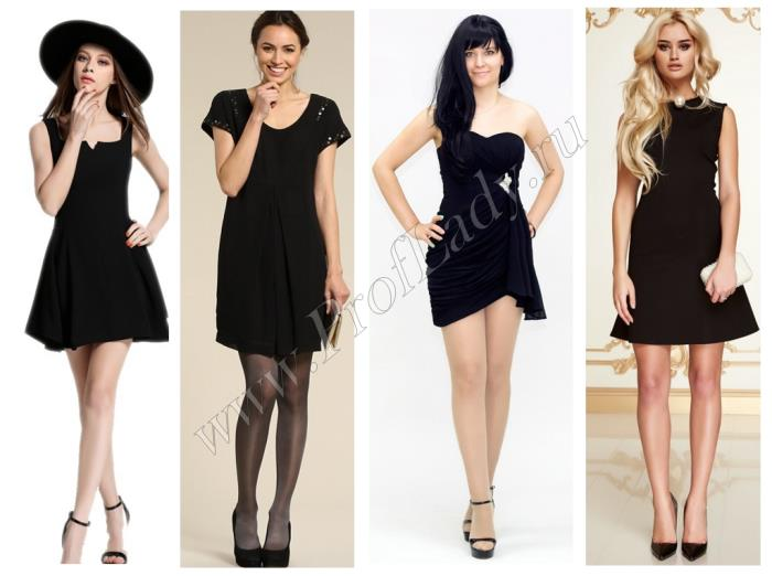 Стильные платья в черном цвете