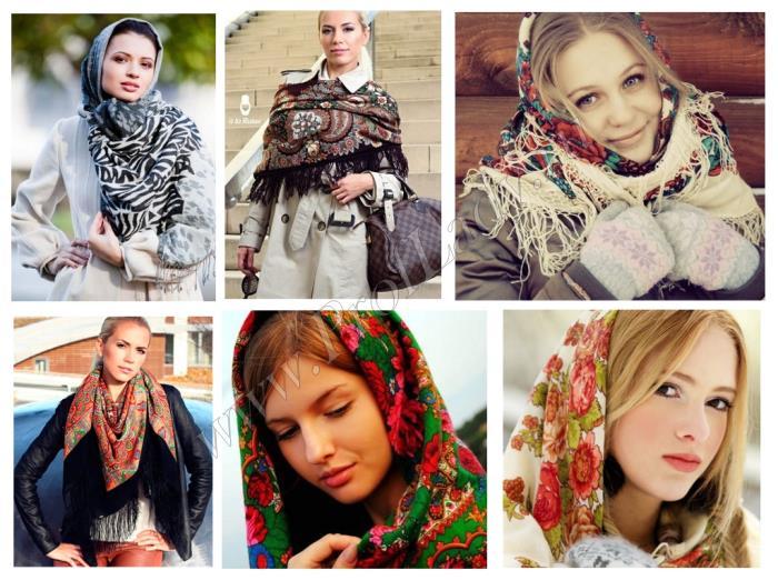 Платок в русском стиле
