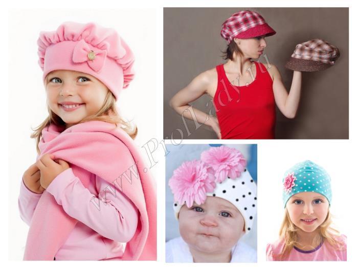 Легкий женский или детский головной убор из ткани