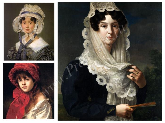Женский головной убор эпохи бидермейера