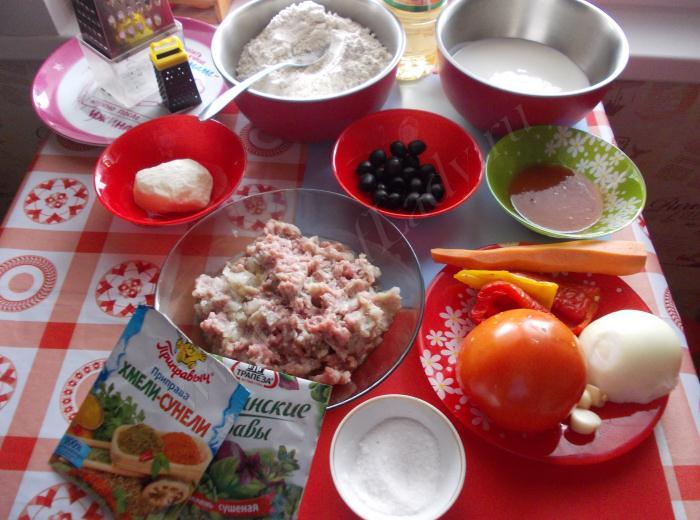 Ингредиенты для рецепты