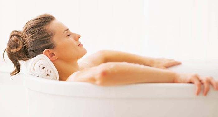 Применение расслабляющих ванн